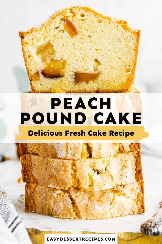 peach pound cake pinterest