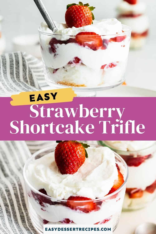 strawberry shortcake trifle pinterest