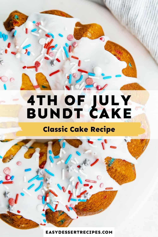 fourth of july bundt cake pinterest