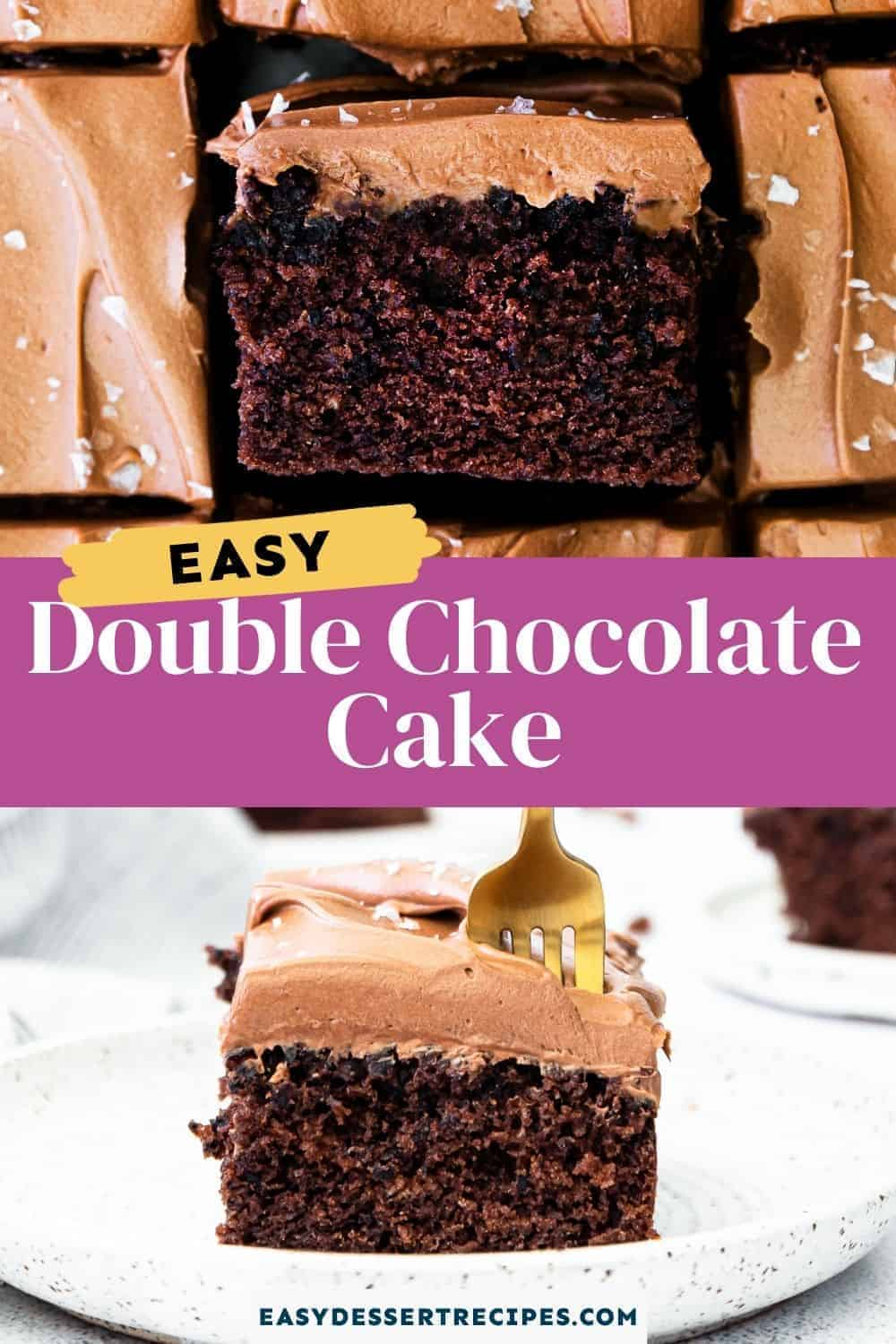 double chocolate cake pinterest collage