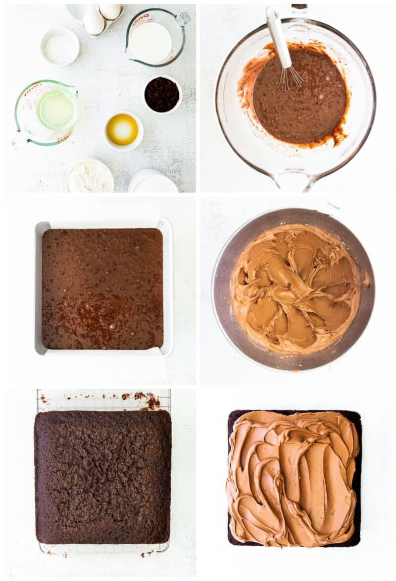 step by step photos for how to make double chocolate cake