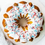 featured 4th of july bundt cake
