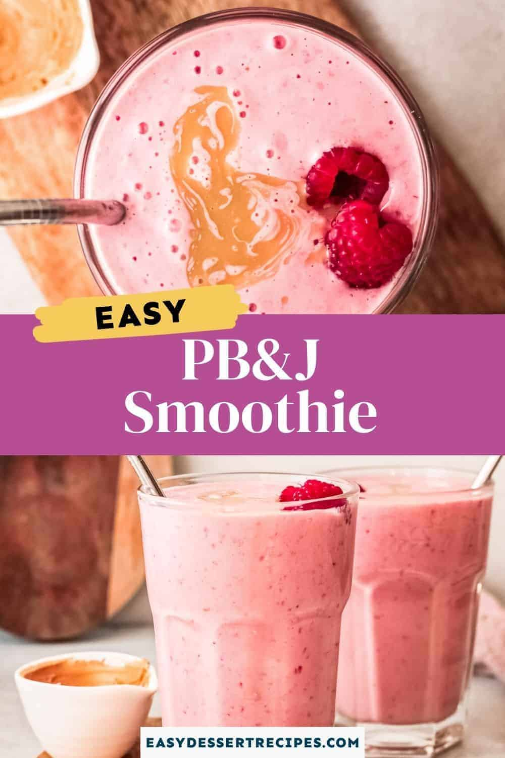peanut butter and jelly smoothie pinterest