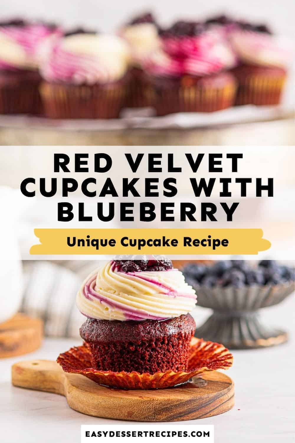 red velvet cupcakes with blueberry compote pinterest