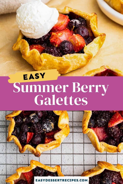 summer berry galette pinterest