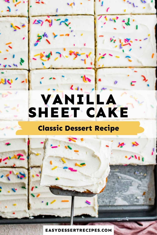 vanilla sheet cake pinterest