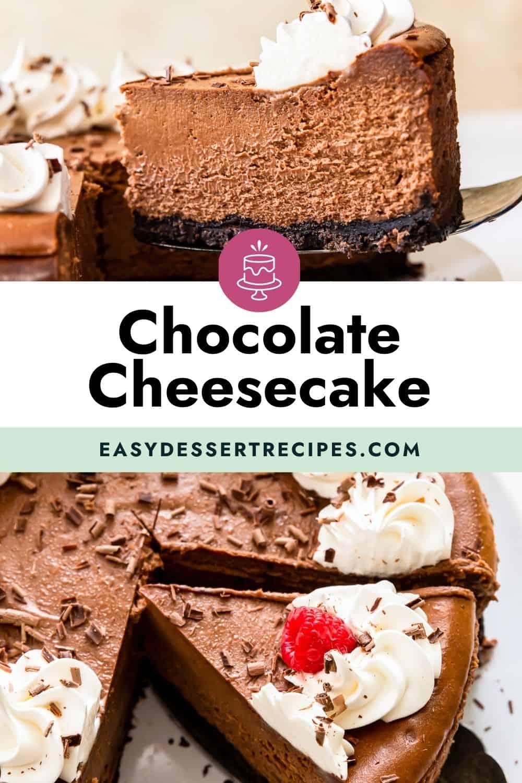 chocolate cheesecake pinterest