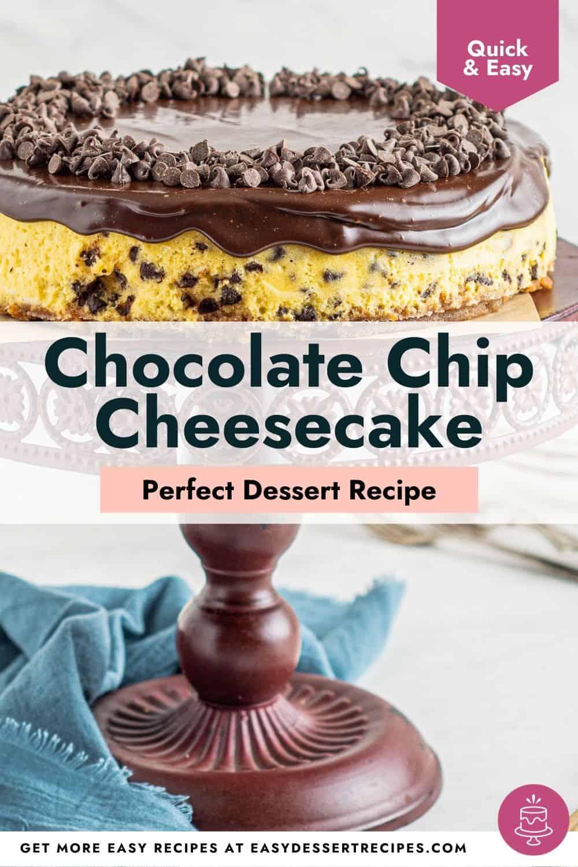 chocolate chip cheesecake pinterest