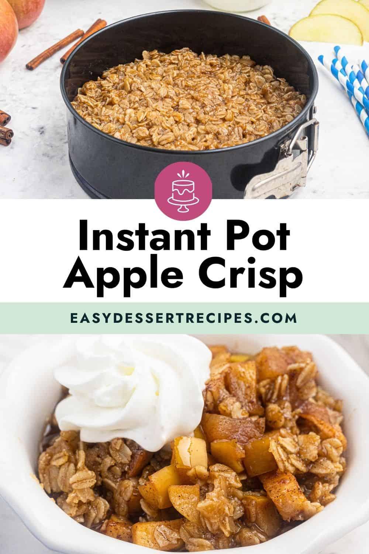 instant pot apple crisp pinterest