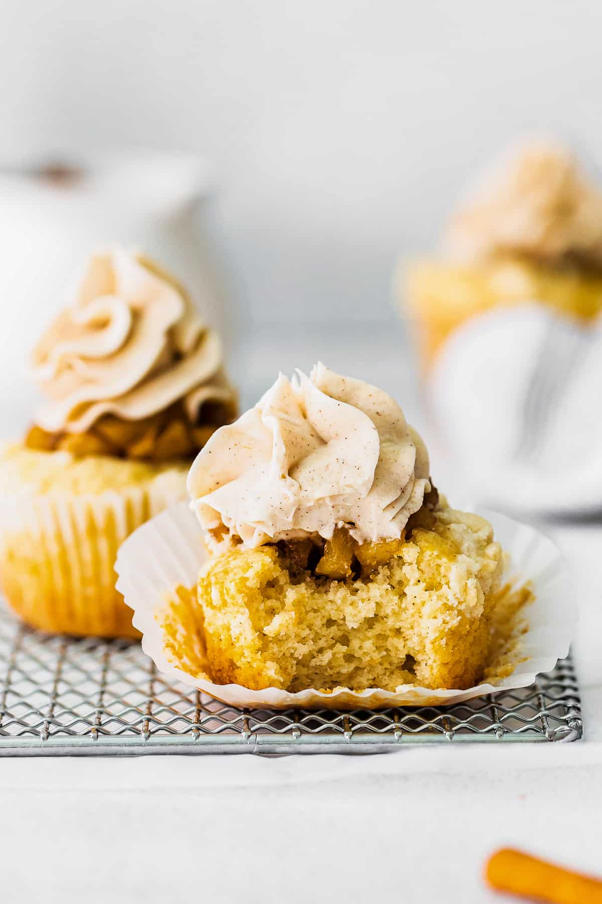 bite out of apple pie cupcake