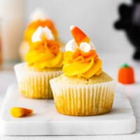 featured candy corn cupcakes
