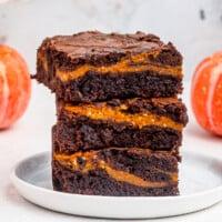 featured pumpkin brownies