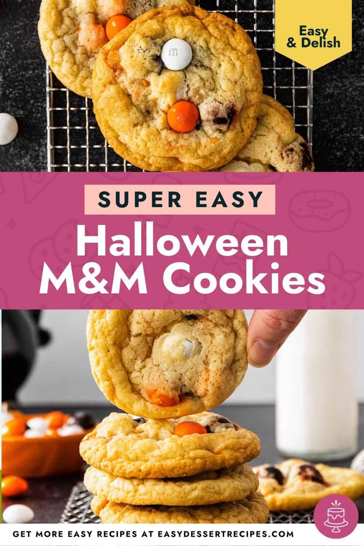 halloween m&m cookies pinterest