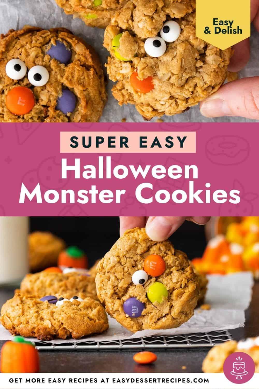 halloween monster cookies pinterest