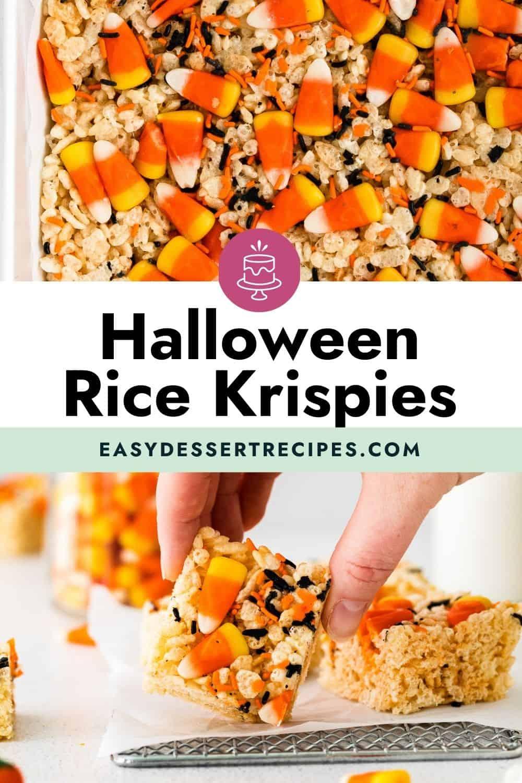 halloween rice krispies pinterest