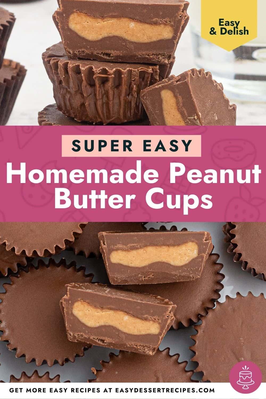 homemade peanut butter cups pinterest