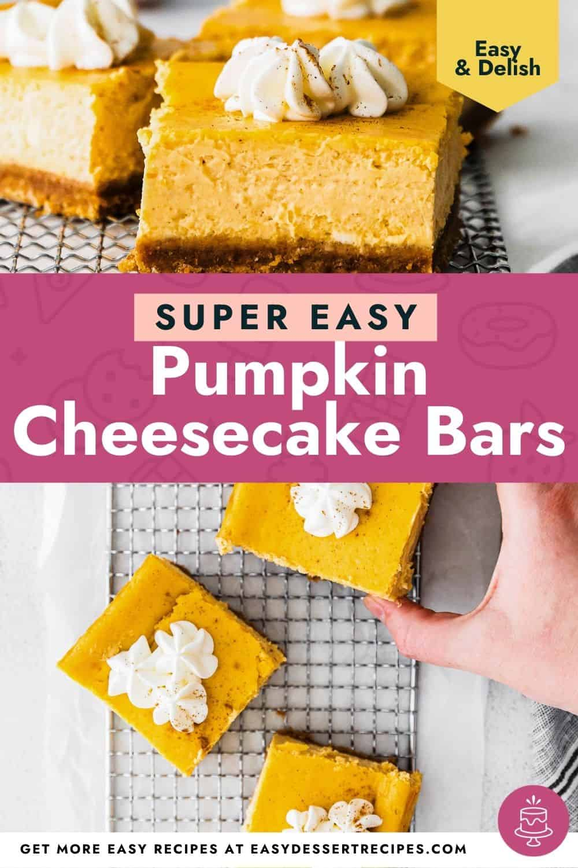 pumpkin cheesecake bars pinterest