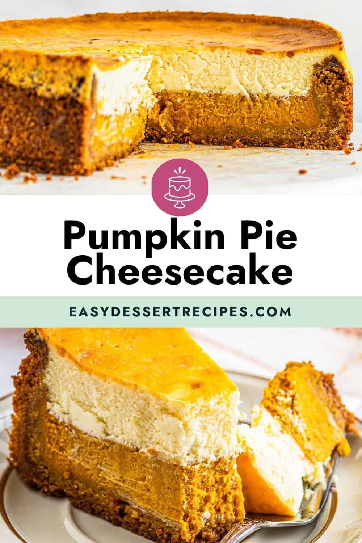 pumpkin pie cheesecake pinterest